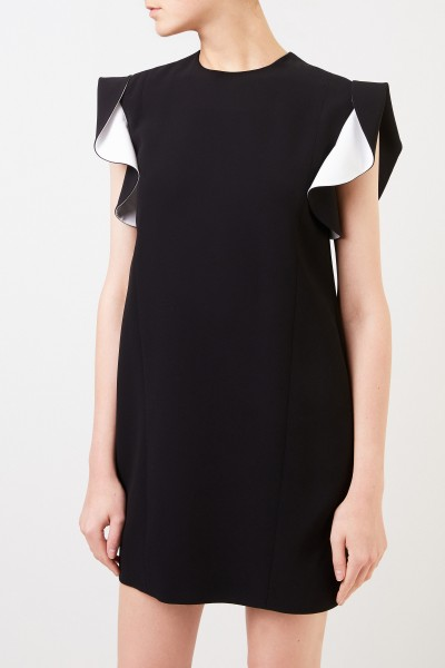 Givenchy Short dress with flounce sleeves black/white