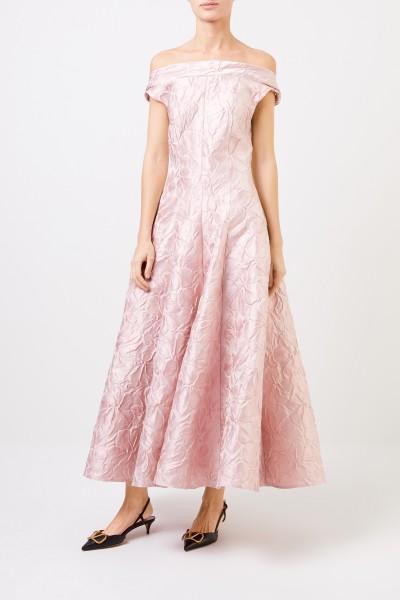 Talbot Runhof Abendkleid 'Tomini2' aus Poiret Jacquard Rosa