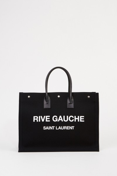 Shopper 'Rive Gauche' Schwarz/Weiß
