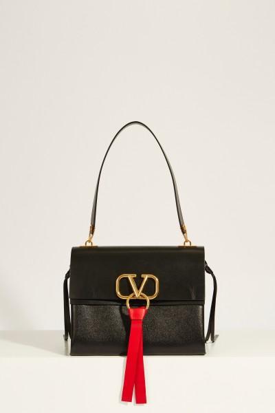 Leather bag 'VRing' Black