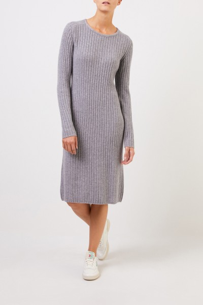 Iris von Arnim Cashmere rib knit dress 'Christella' Grey
