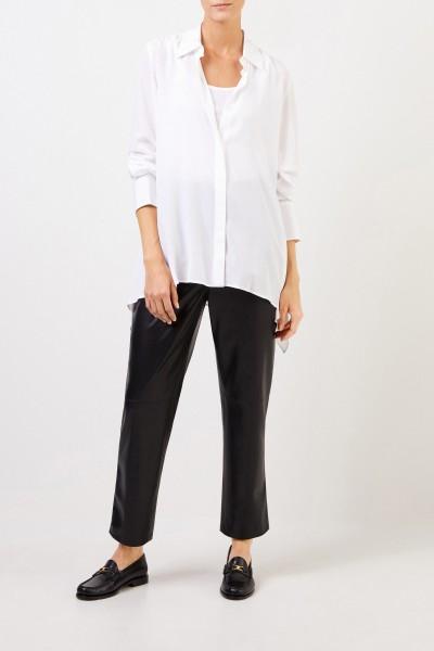 Classic Silk Blouse White