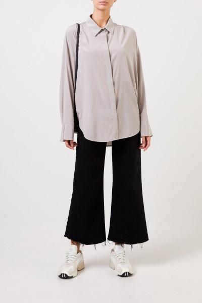 Oversize Silk Blouse Brown