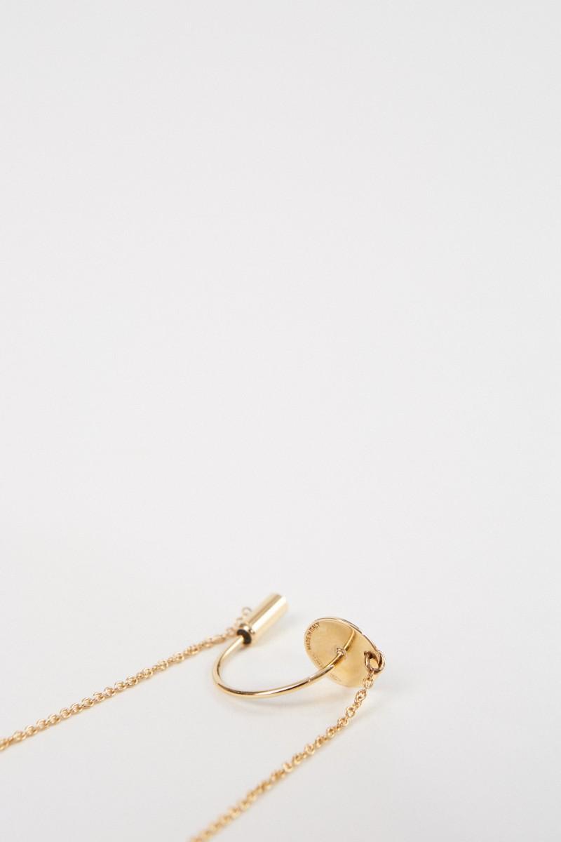 Ohrring 'ABC Chain' mit Diamant Gold