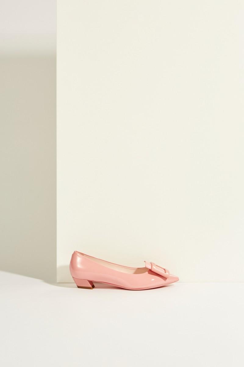 Lackleder-Ballerinas 'Gommettine' Rosé