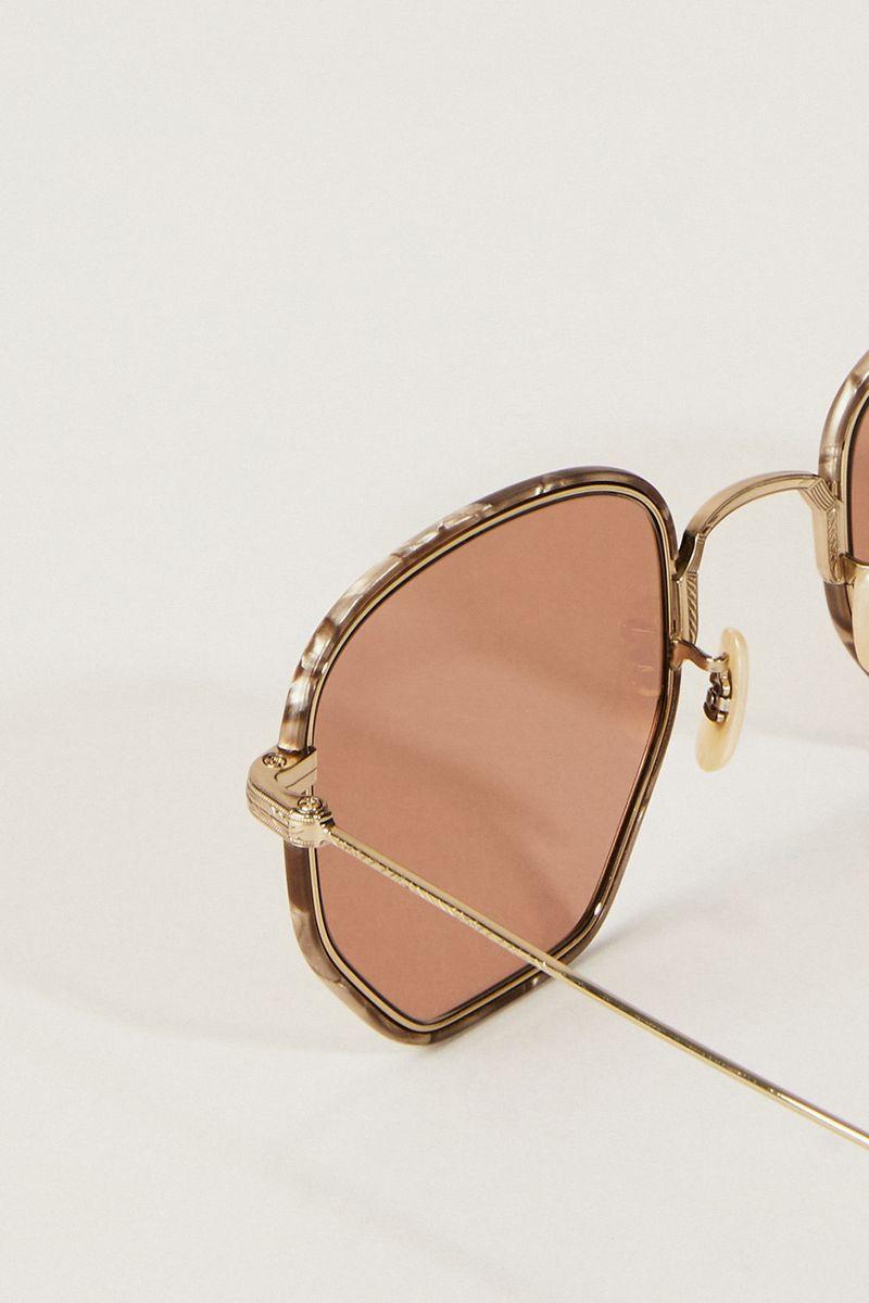 Sonnenbrille 'Alland' Violett/Gold
