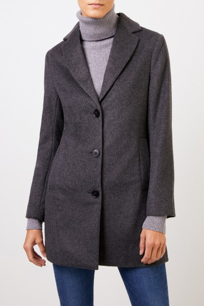 Uzwei Cashmere short coat Anthracite