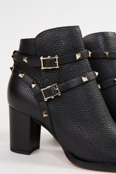Valentino Ankle boot with rivet details Black