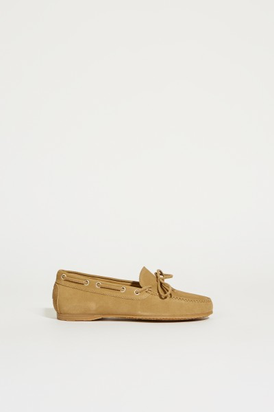 Suede Leather Shoe Beige