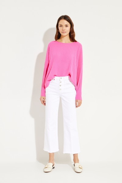 Oversize Cashmere-Pullover Pink