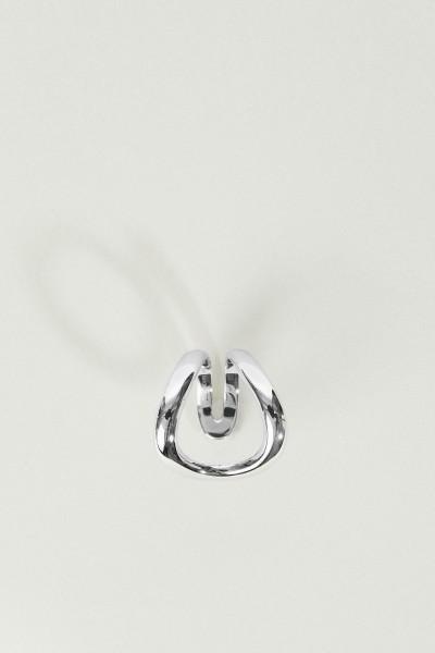 Geschwungener Ring 'Mirian' 18K Weißgold