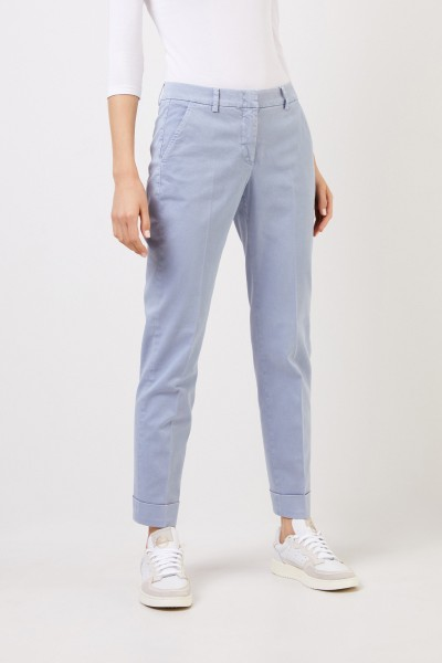 Cappellini Cotton trousers with folded hems Light Blue