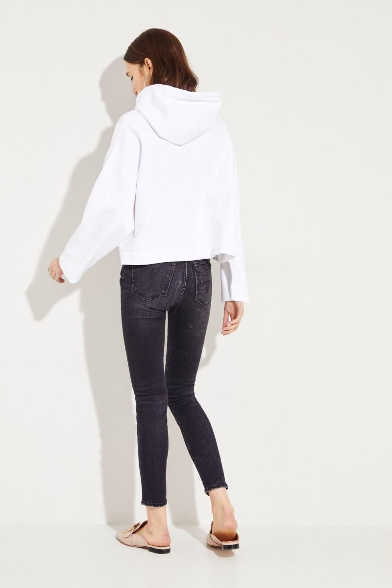 Kapuzen-Sweatshirt 'Joghy Emboss' Weiß