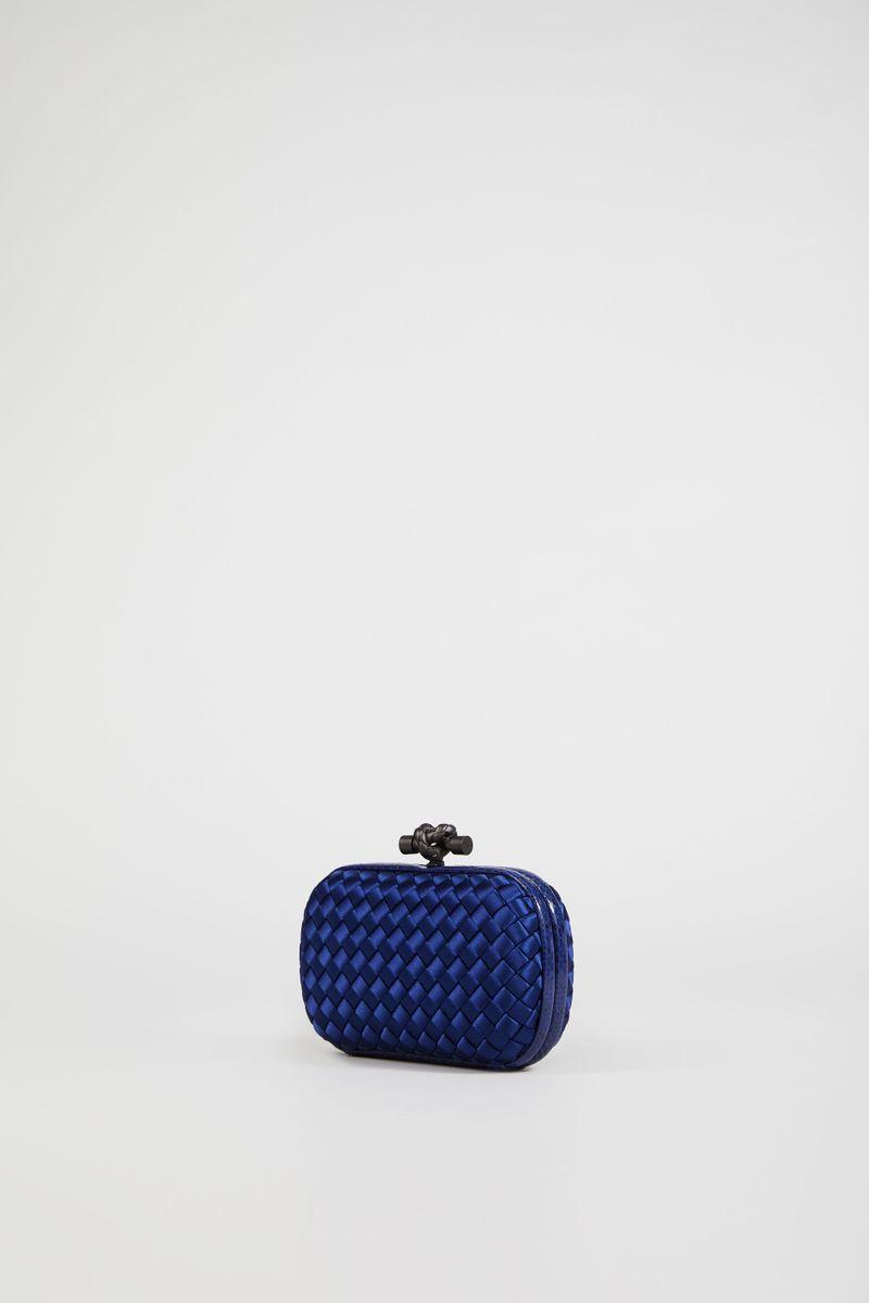 Geflochtene Clutch 'Knot' Blau