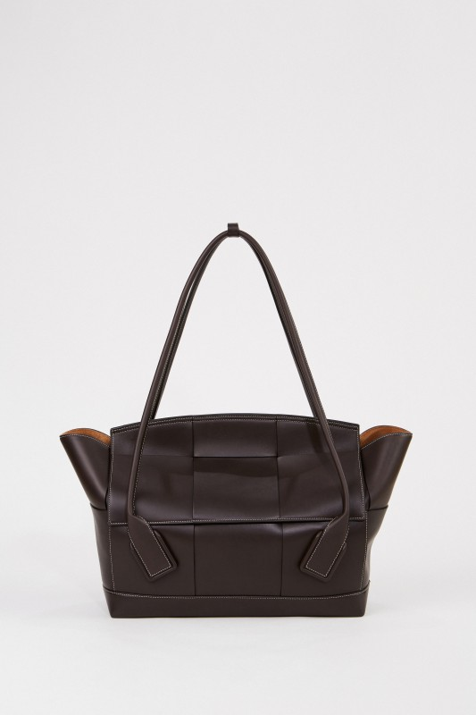 Bottega Veneta Leder-Tasche 'Arco 56' Dunkelbraun