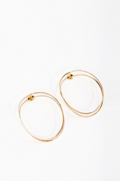 Delfina Delettrez Earring 'Earclipse' with diamonds Pink Gold