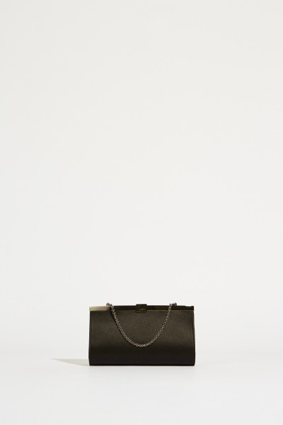 Satin-Clutch 'Palmette' Black