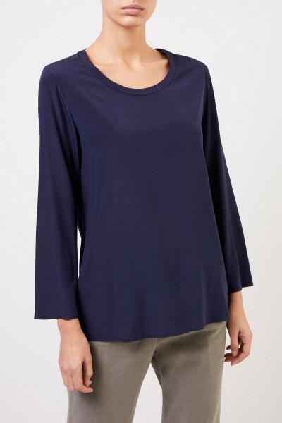 Aspesi Classic silk top Navy Blue