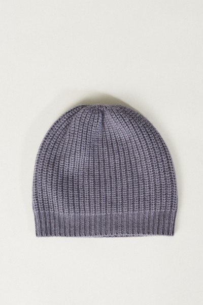 Cashmere-Mütze Taubenblau
