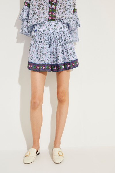 Mini skirt 'Amora' with floral print Blue/Multi