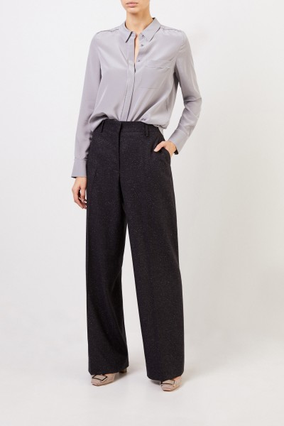 Wool silk trousers 'Jovell' Anthracite
