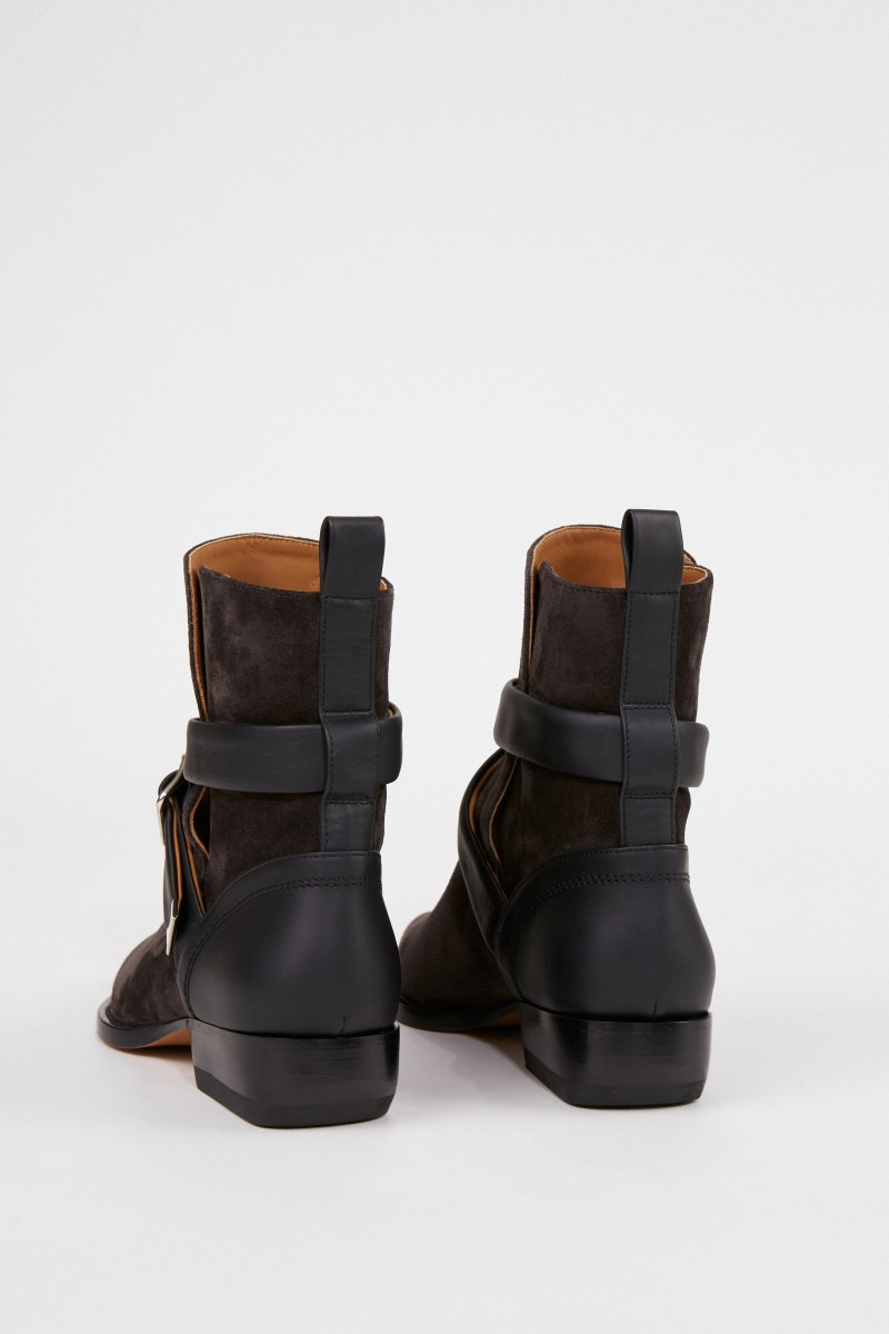 Chloé Veloursleder-Ankle-Boots 'Verbania' Anthrazit