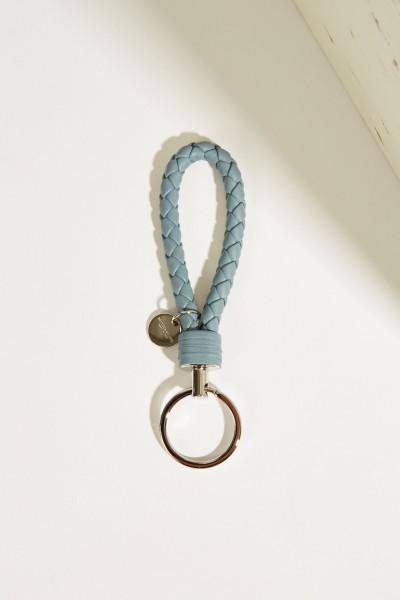 Geflochtener Schlüsselanhänger Blau