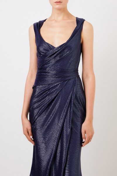 Talbot Runhof Long evening dress 'Towanda1' Dark Blue