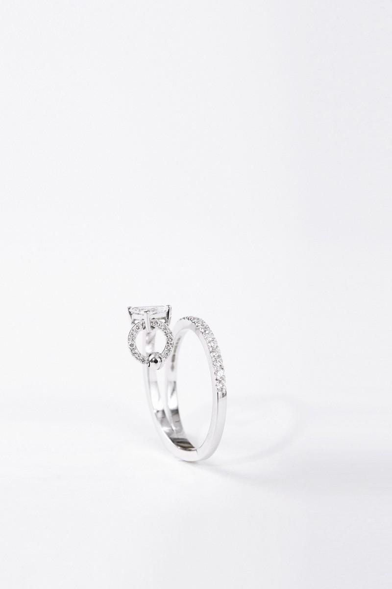 Delfina Delettrez Ring 'Marry Me' mit Diamanten Weißgold