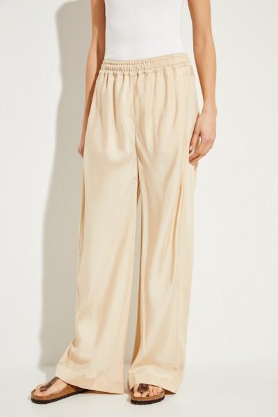 Pants with wide leg Light Camel