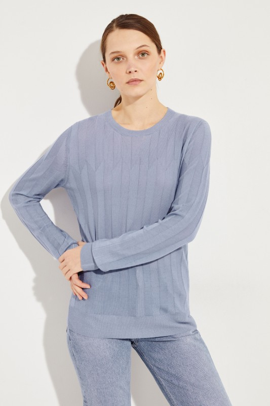 Bottega Veneta Cashmere-Pullover Blau