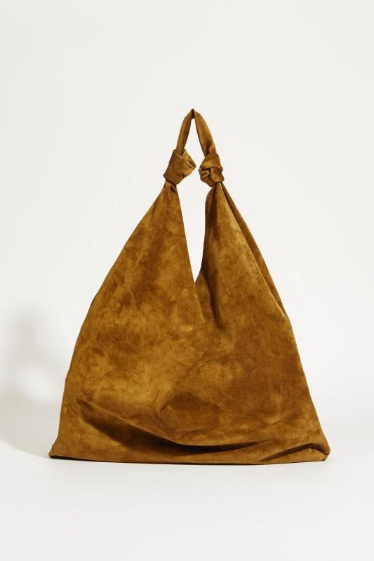 8b8664303872 Suede leather shopper  Bindle Double Knots  Khaki