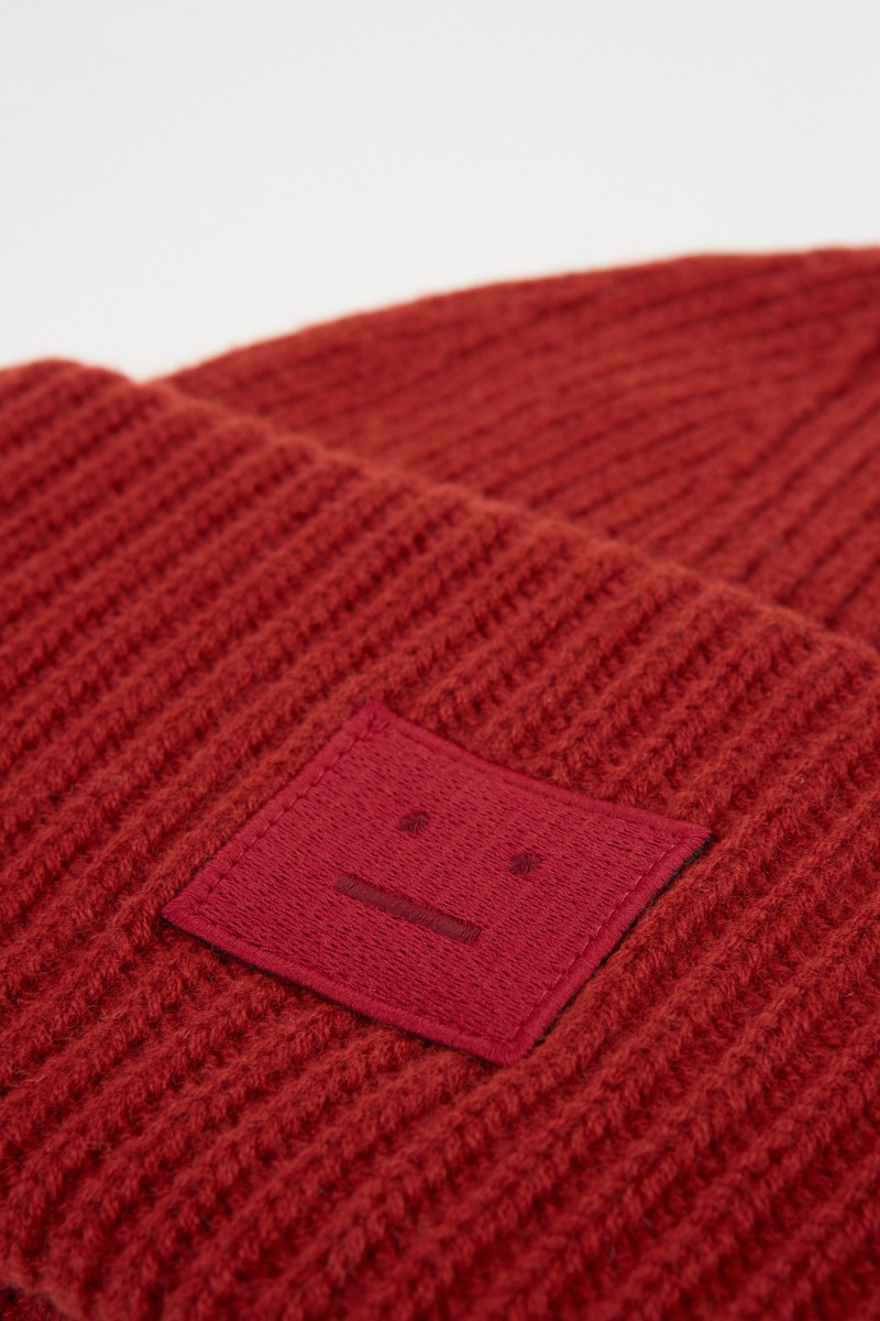 Acne Studios Mütze 'Pansy N Face' Brick Red