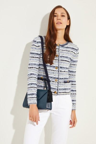 Tweed-Blazer mit Logo-Knöpfen Blau/Multi