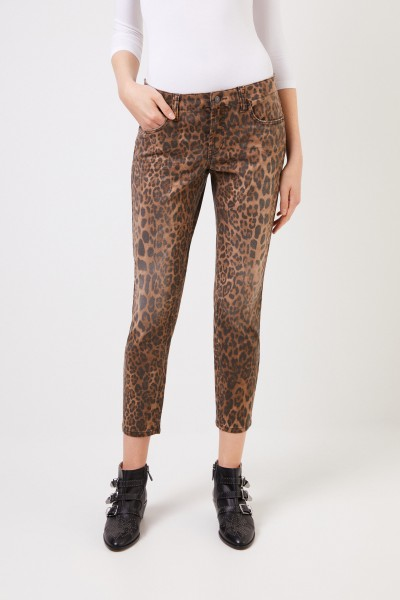 Cambio Trousers with leoprint Multi