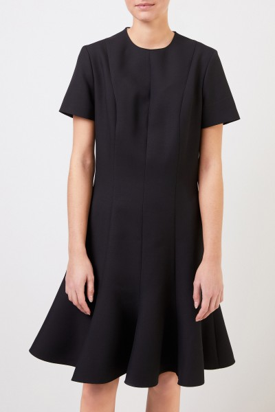 Stella McCartney Wool dress with flounce black