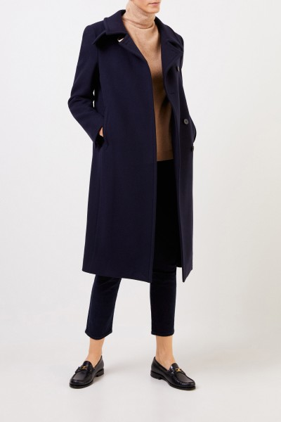 Stella McCartney Long-wool-coat Blue