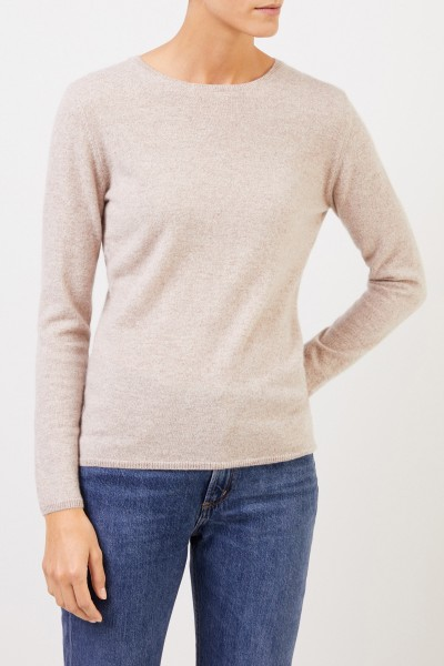 Uzwei Cashmere sweater with r-neck Beige