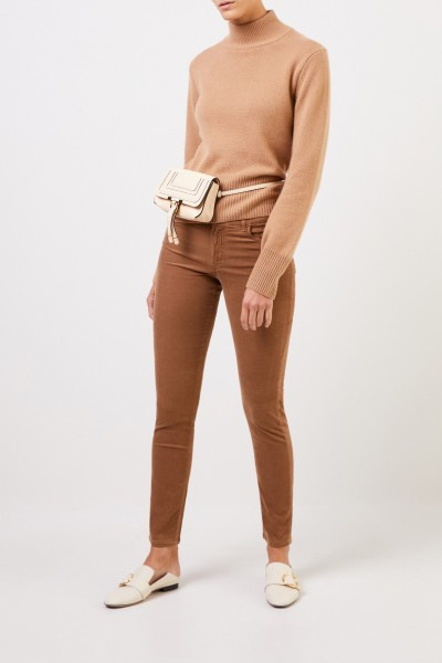 Fine corduroy trousers 'Ira' Camel