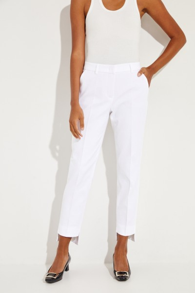 Cotton trousers 'Viola' with texture white