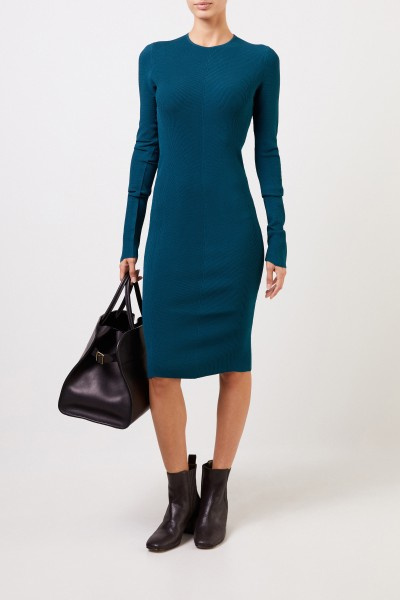 Bottega Veneta Knitted dress with structure Petrol