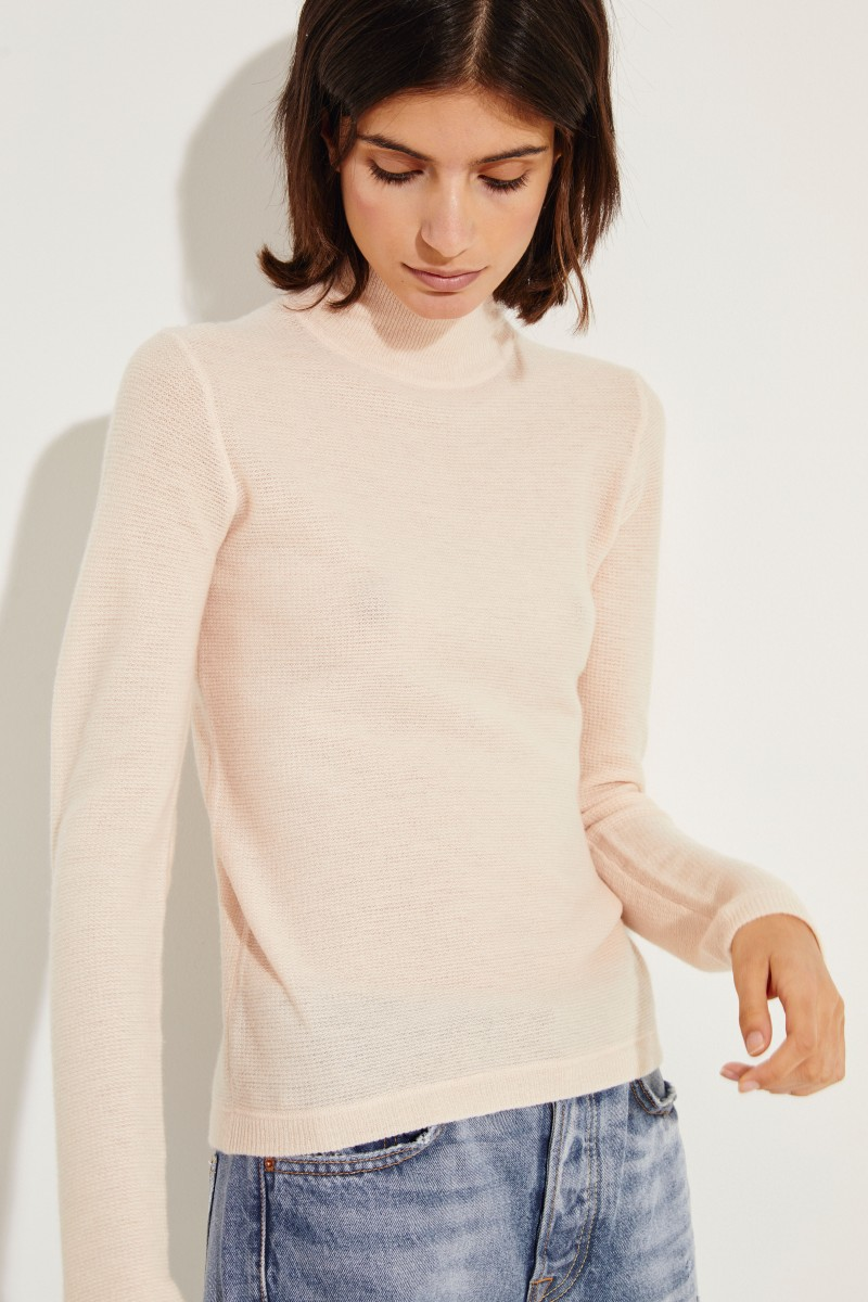Woll-Cashmere-Pullover Rosé
