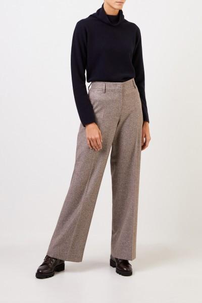Fabiana Filippi Woll-Seiden-Pullover mit Turtleneck Marineblau