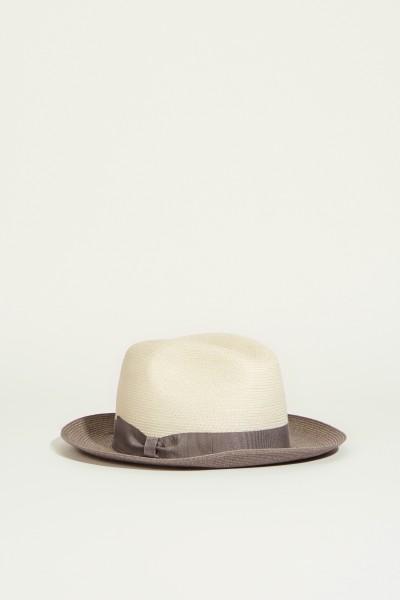 Hut mit Schleifendetail Créme/Grau