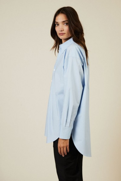 Oversize-Bluse Light Blue