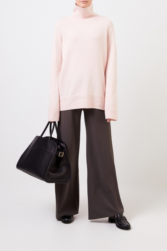 The Row Woll-Cashmere-Pullover 'Milina' Rosé