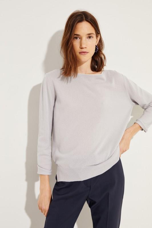 Cashmere-Pullover mit Lurexdetails Grau