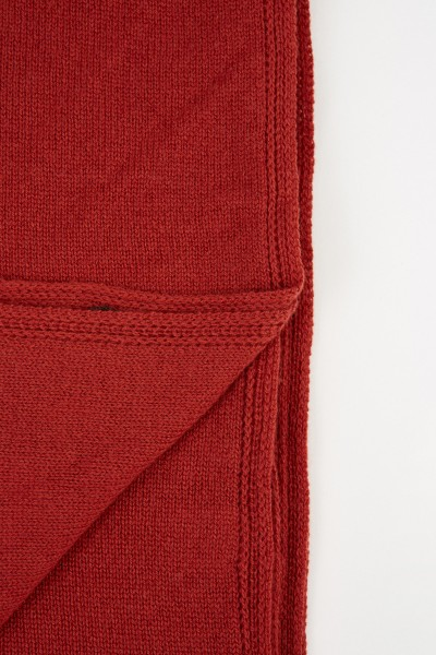 Colombo Classic Cashmere Scarf Rust Brown