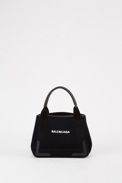 Shopper with frontal logo detail Black