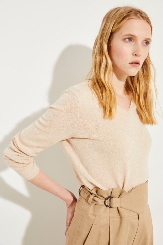 Cashmere-Pullover 'Candice' Puder